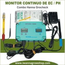 Monitor Continuo de PH-EC Combo Hanna Grocheck