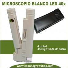 Microscopio blanco LED 40x