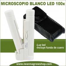 Microscopio blanco LED 100x