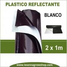 Plástico Reflectante Blanco y Negro 1 x 2 m