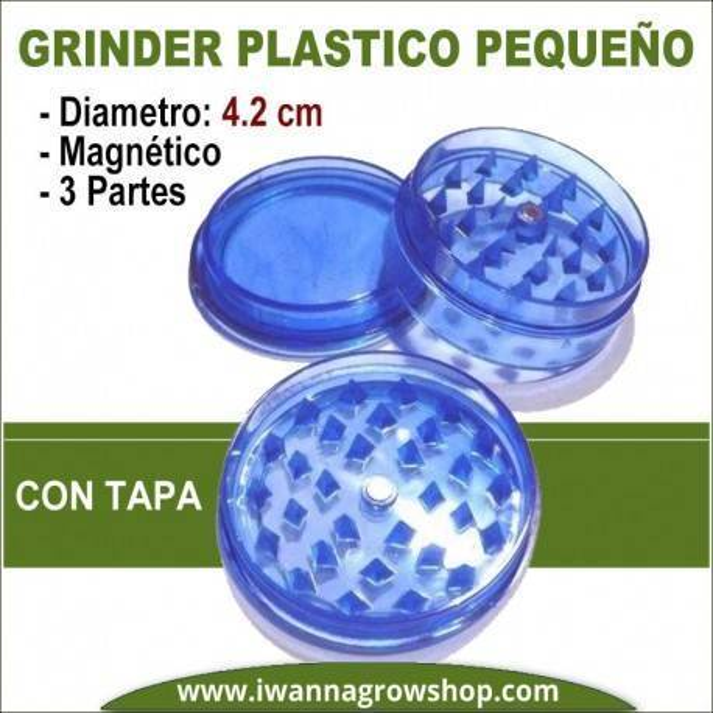 Grinder Plástico pequeño Con Tapa