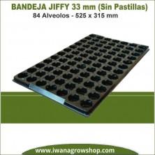 Bandeja Jiffy 33mm 84 Alveolos (Sin pastillas)