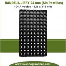 Bandeja Jiffy 24mm 104 Alveolos (Sin pastillas)
