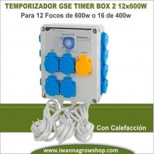 Temporizador GSE Timer Box II 12x600w con calentador
