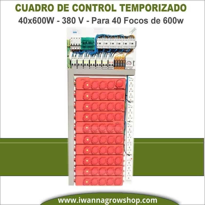Cuadro de control temporizado 40x600W 380V