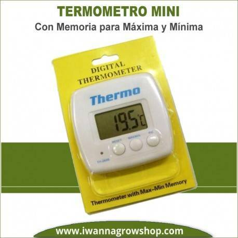 Termómetro Mini con Máxima y Mínima