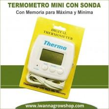 Termómetro Mini Con Sonda con Máxima y Mínima