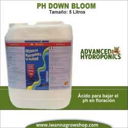 Ph- Down Bloom (5 litros) - Advanced Hydroponics