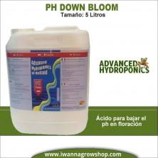 Ph- Down Bloom (5 litros) - Advanced Hydroponics