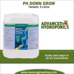 Ph Down Grow (5 litros) - Advanced Hydroponics