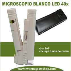 Microscopio blanco LED 40x