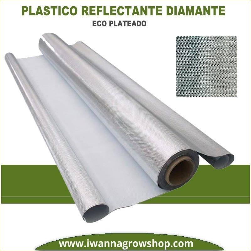 Plástico Reflectante Diamante Eco Plateado