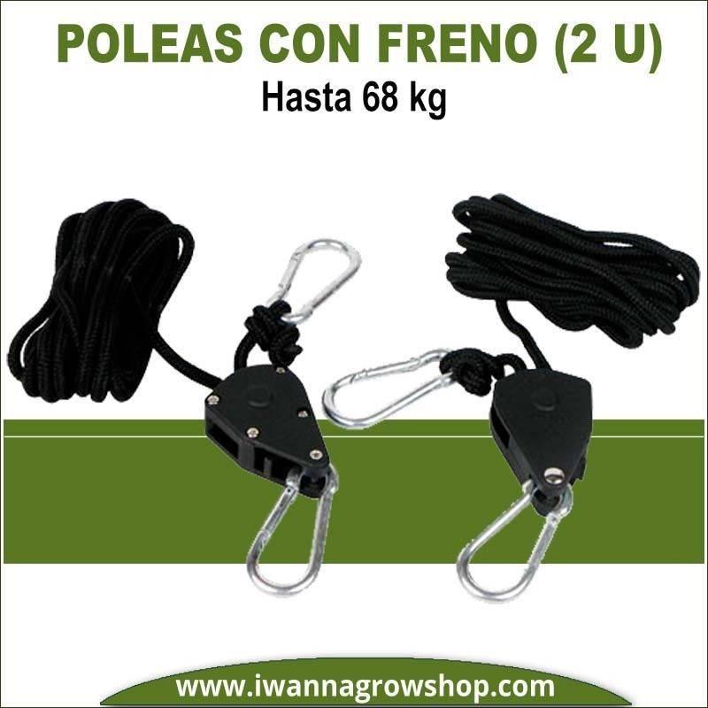 Poleas con freno (2Und) hasta 68 kg