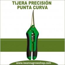 Tijera de precisión de punta curva