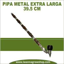 Pipa de metal extra larga 39.5 cm