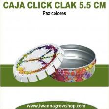 Caja Click Clack 5.5 cm Paz Colores