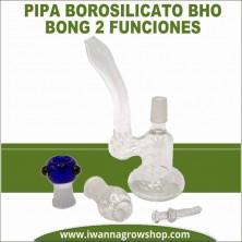 Pipa Borosilicato BHO Bong 2 funciones