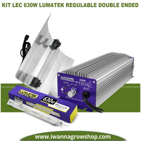 Kit LEC 630w Lumatek Regulable Double Ended
