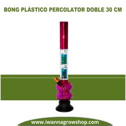 Bong Plástico Percolator Doble 30 cm