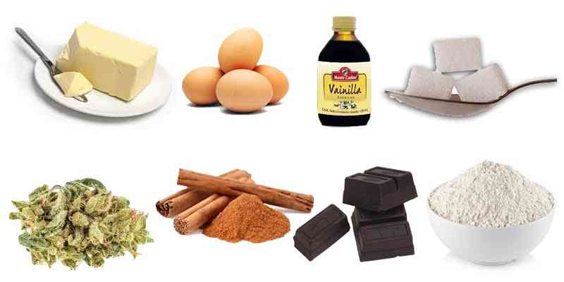 ingredientes brownie de marihuana