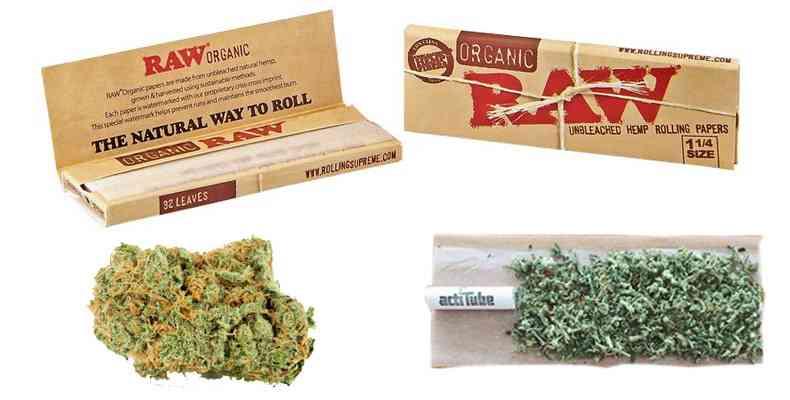fumar maria sin tabaco con papel organico