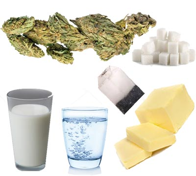 ingfedientes para el te de marihuana