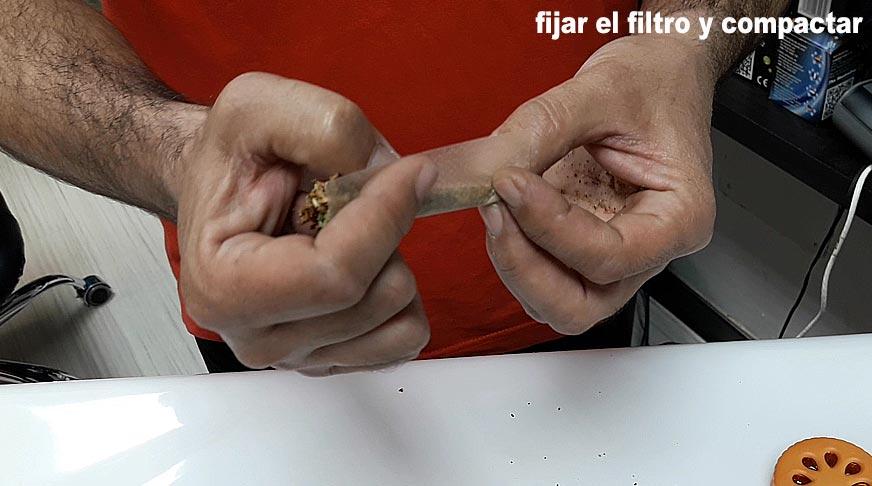 fijar el filtro y compactar