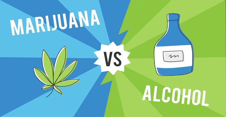 alcohol vs cannabis