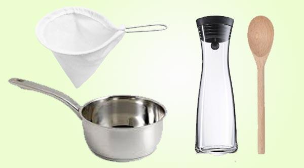 utensilios para hacer leche de maria