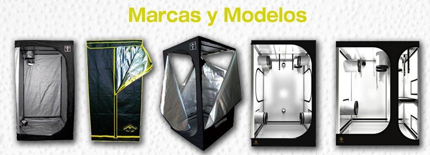 Marcas y Modelos de armarios de cultivo de interior